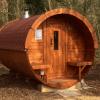Carr Bank 4m Pine Barrel Sauna