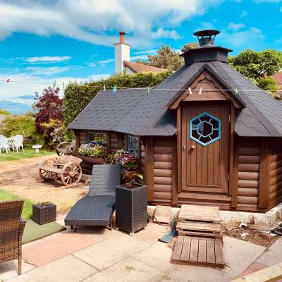 10m Grill Cabin with 1.8m Extension