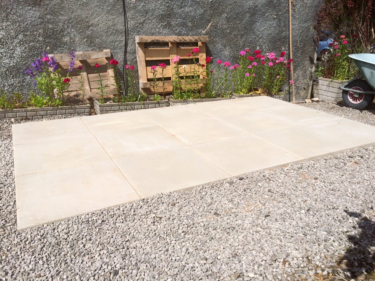 Concrete Paving Base shed base