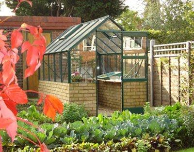 Dwarf Wall Aluminium Greenhouse