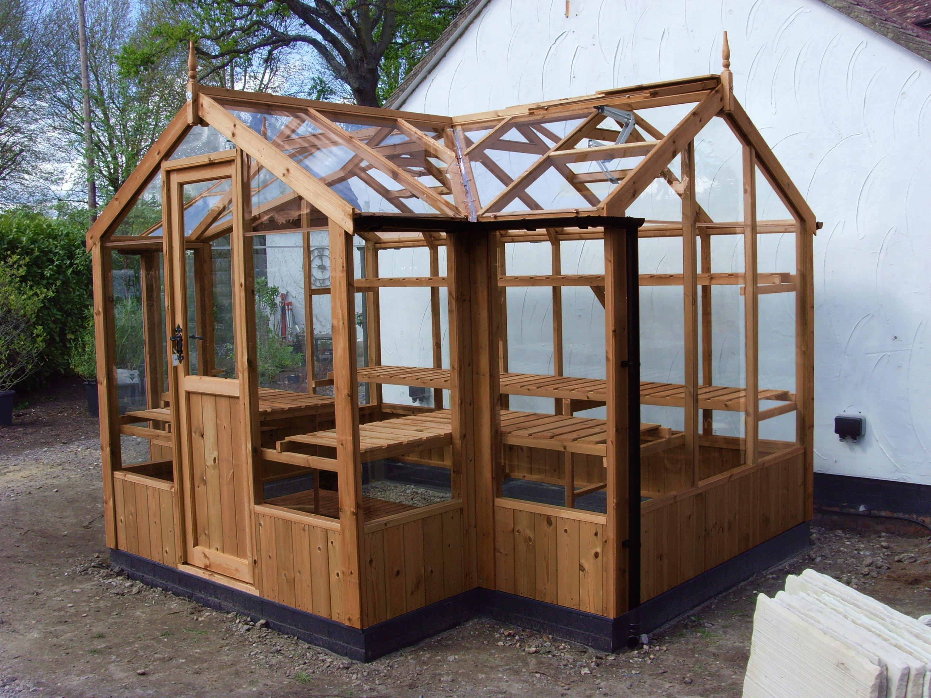 "Swallow Cygnet Timber Greenhouse 6'8"" x 11'5"""