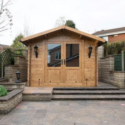 Crossley Log Cabins Magnum 3m wide Log Cabin from Carr Bank Garden Centre