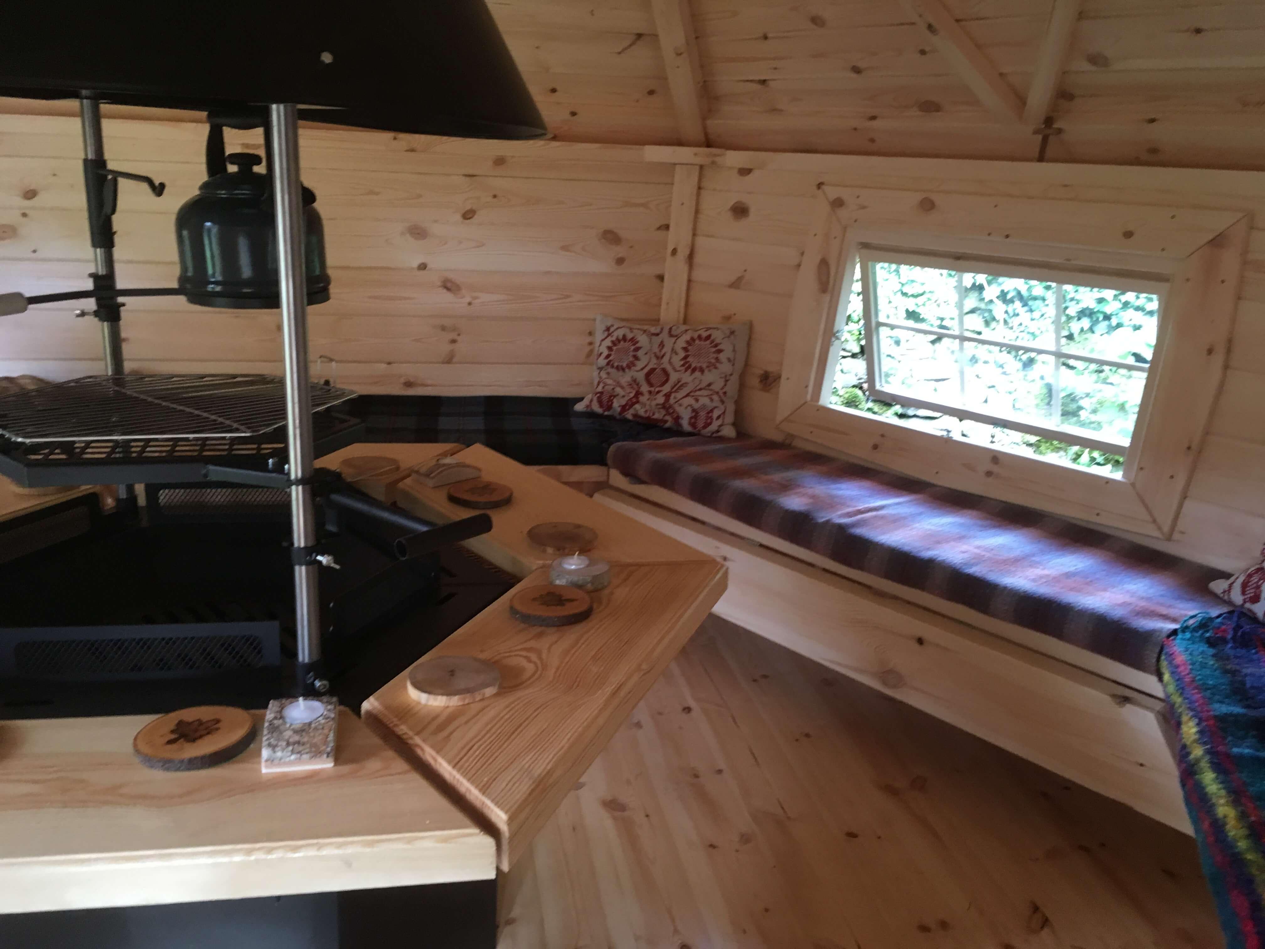 10m Sloping Wall Cabin interior