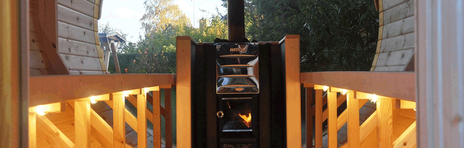 Barrel Sauna's from Carr Bank Garden Centre