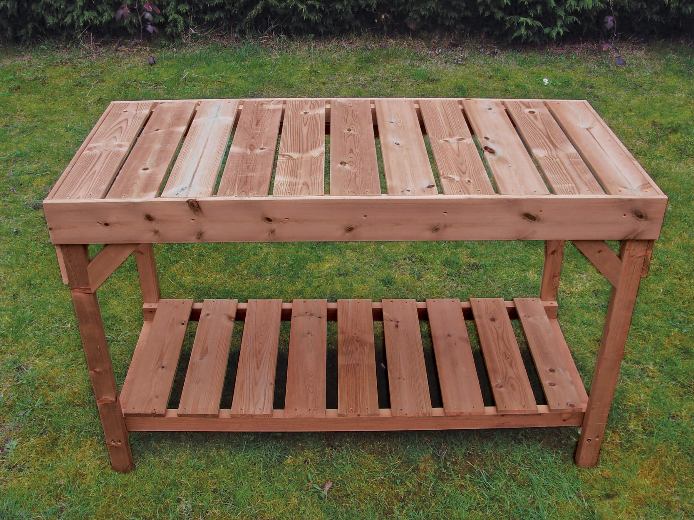 4ft Bench with Shelf