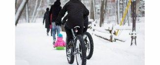 Des cyclistes circuleront en hiver sur Père-Marquette