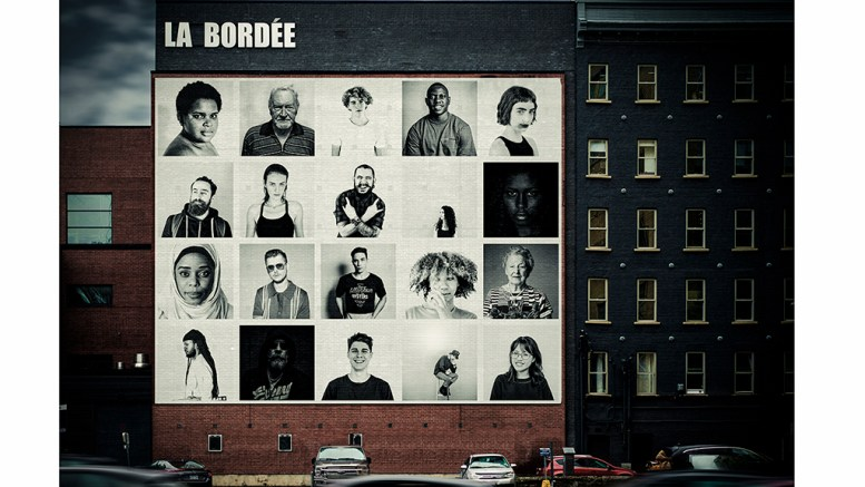 Murale extérieure à La Bordée