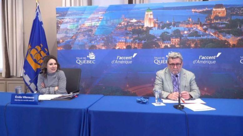 La conseillère Émilie Villeneuve et le maire Régis Labeaume