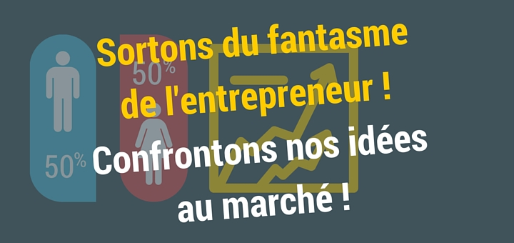 Sortons du fantasme de l'entrepreneur, confrontons nos idées au marché !