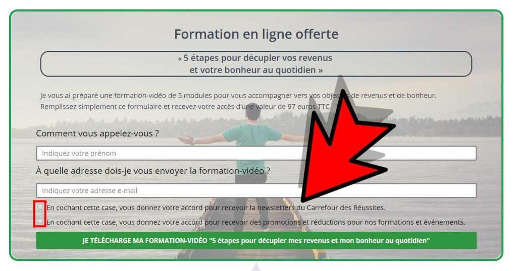Exemple de formulaire conforme RGPD (information à faire valider par votre juriste !)