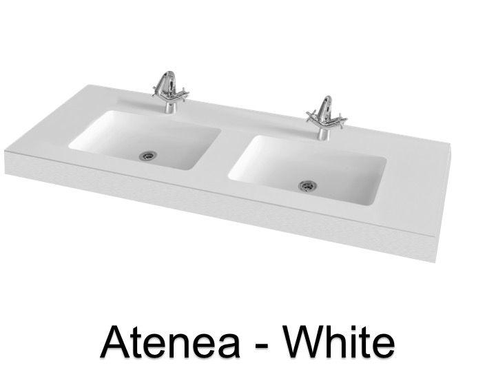 plan vasque double 140 cm vasque