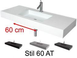 Plan Vasque Vasque Lavabo Suspendu Ou A Encastrer Dans Une Meuble De Salle De Bain 45 X 140 46 X 140 50 X 140 55 X 140 60 X 140 Cm