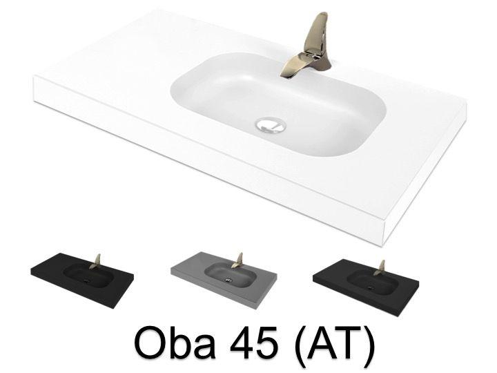 Plan Vasque 50 X 60 Cm Suspendue Ou A Encastrer En Resine Minerale Oba 45 At