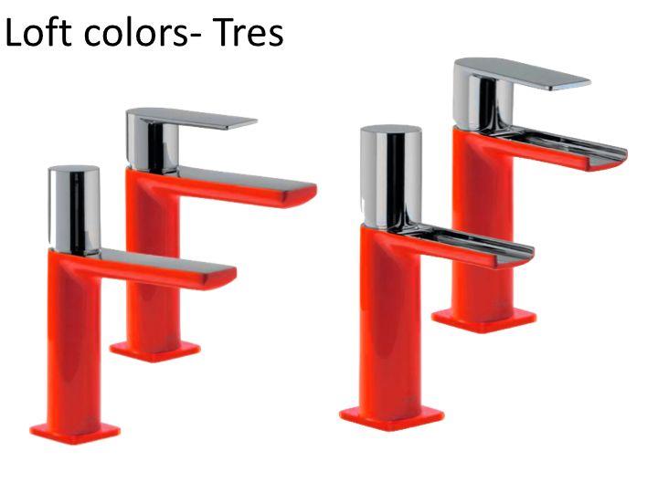 Robinet Mitigeur Lavabo Loft Colors Tres Finition Rouge