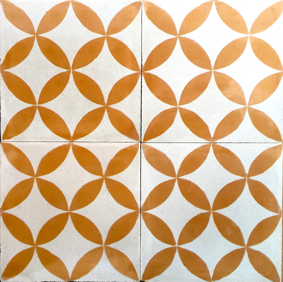 Carreau De Ciment Sol Et Mur 1m Modele Sampa Orange Carrelage Mosaique