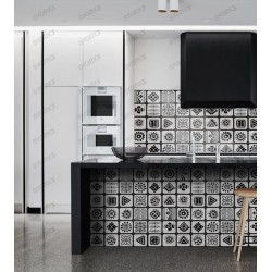 carreaux ciment imitation oaxaca credence cuisine fond de hotte