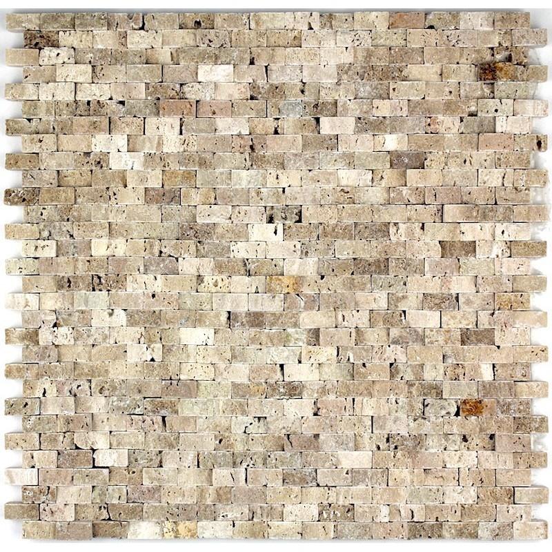 mosaique de pierre credence cuisine cinza beige 1m2 carrelage mosaique
