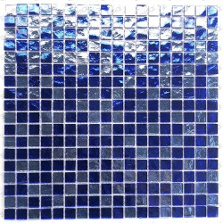 Carrelage Verre Mosaique Douche Salle De Bain Gloss Bleu Carrelage Mosaique