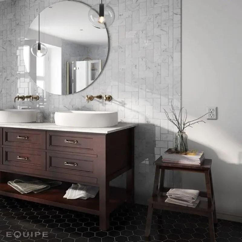 faience 7 5x15 carreau metro plat evolution marbre blanc carrara