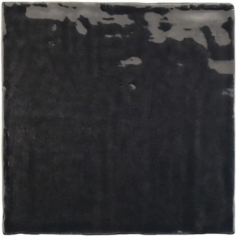 carrelage mural zelliges la riviera tourmaline 13 2x13 2 noir brillant carrelages 3d