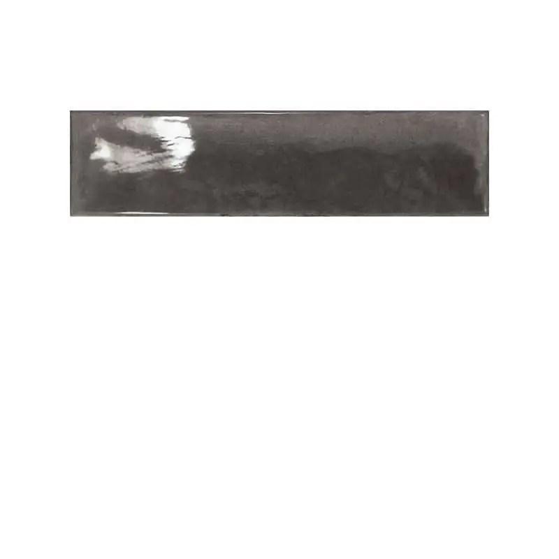 Carrelage Facon Zellige Carreaux Marocains 7 5x30 Splendours Black Noir Brillant