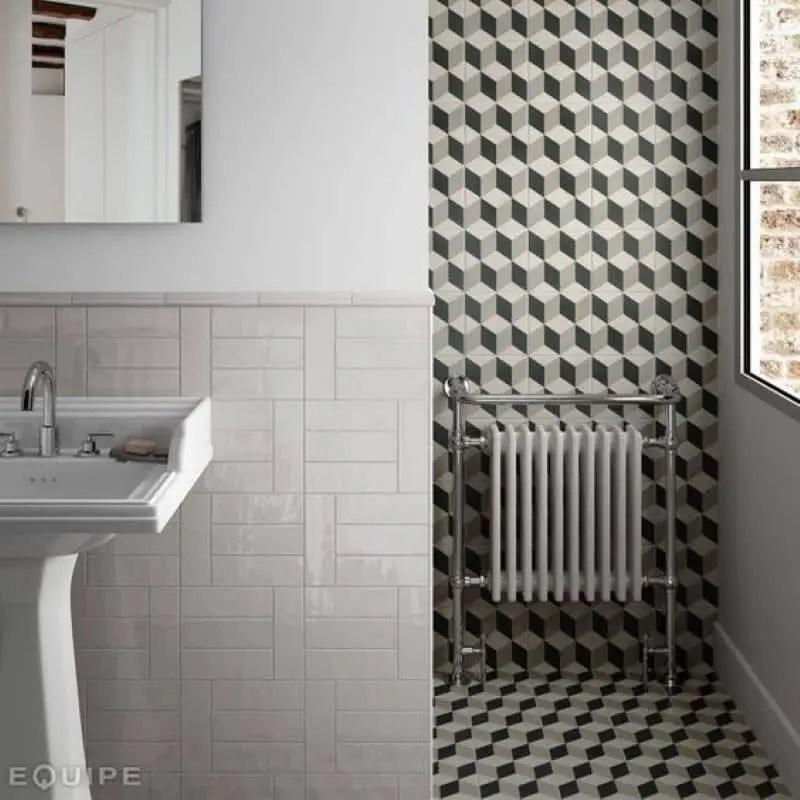 carrelage motif ciment cube 20x20 provence