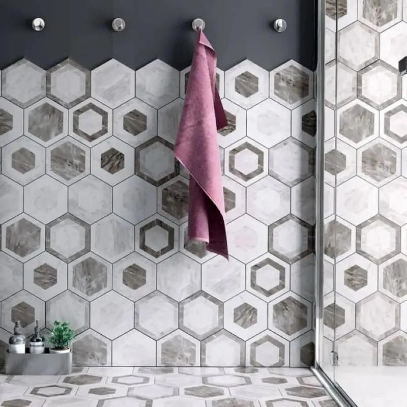 carrelage hexagonal tomette imitation marbre avec decor geometrique carrelages 3d