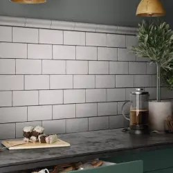 faience unie 7 5x15 style metro masia blanc mat