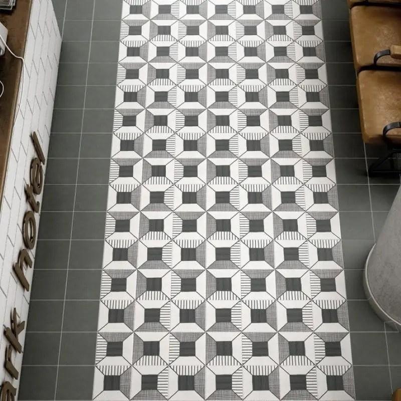 carreau effet ciment uni noir caprice black 20x20
