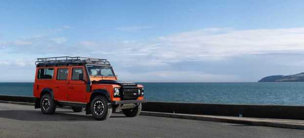 Land Rover Defender Adventure Edition at Red Wharf Bay