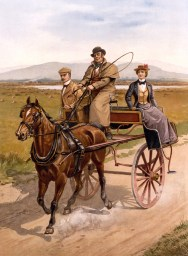 Irish jaunting car circa 1890