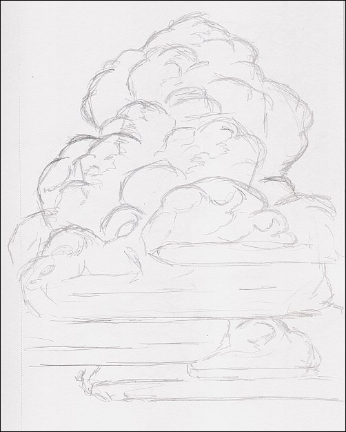 Drawing Mini Clinic - How to Draw Thunderhead Clouds, Demo 1, Part 2