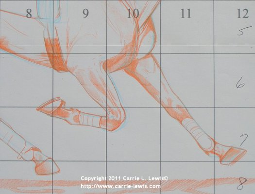 How to Draw Horse Legs and Feet - Step 3