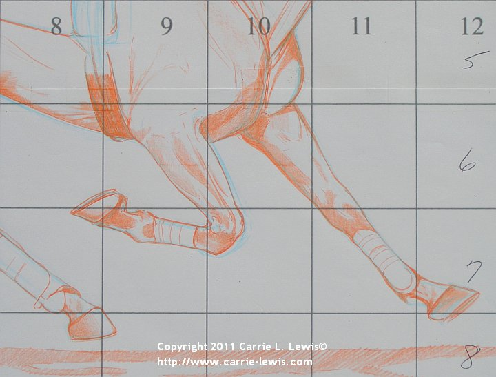 How to Draw the Legs and Feet of Horses Step 2