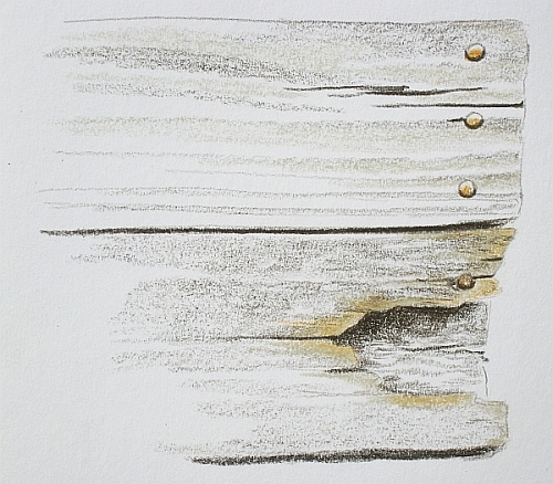 How to Draw Realistic Wood Grain Rotted Wood