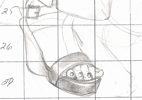 Drawing Studies - Foot & Sandal