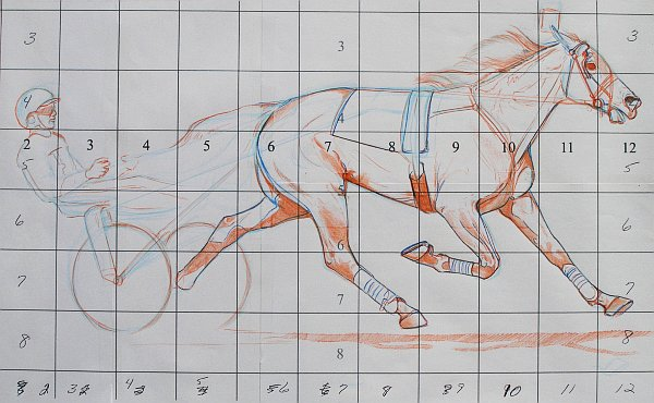 Create Large Line Drawings - Refining the Drawing on the Grid