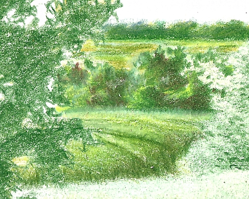 Drawing Distance - Drawing of the Middle Distance of a Landscape