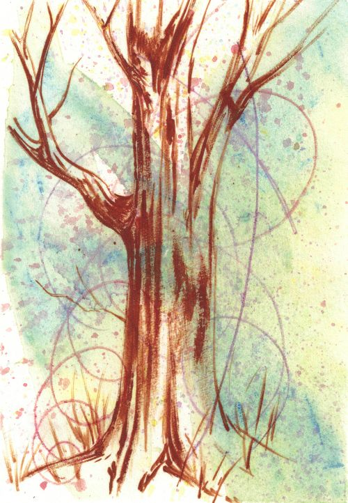 More Fast and Easy Backgrounds for Colored Pencils - Watercolor Scribbles