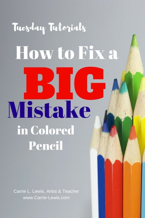 How to Fix a BIG Mistake in Colored Pencil
