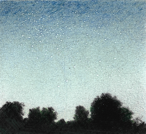 How to Draw a Night Sky - Darken the Values