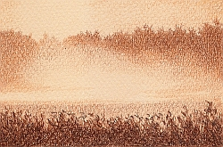 Drawing Natural Looking Landscapes - How to Draw a Foggy Morning