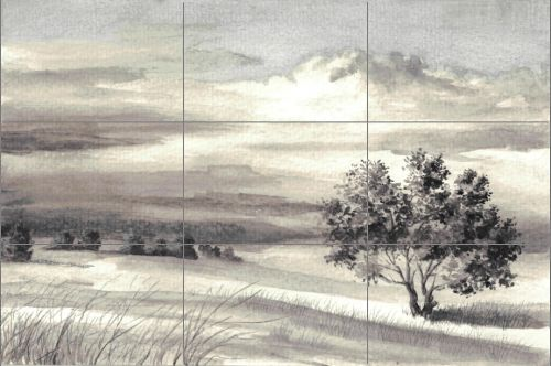 Drawing with Black and Gray Colored Pencils - Bad Composition