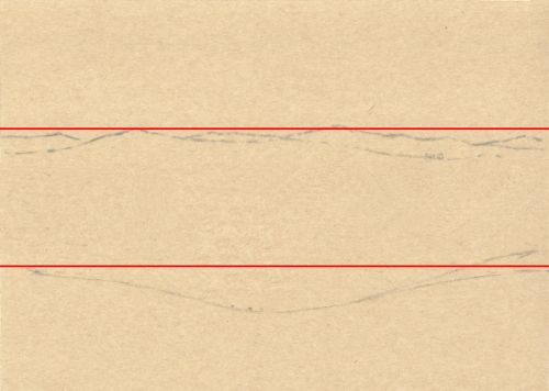 How to Sketch a Composition Directly on Paper Step 3