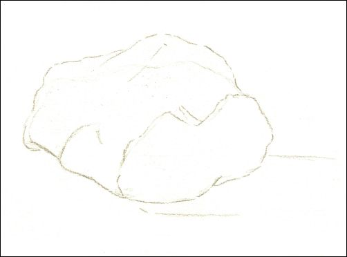 Draw Wet Stones - Step 1 Line Drawing