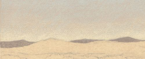 How to Draw Far Distance on Sanded Art Paper - Step 2