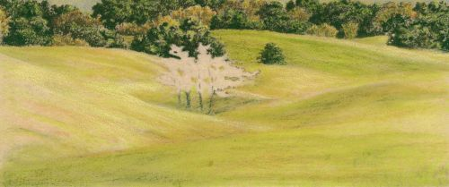 How to Draw Grassy Hills Dry blending