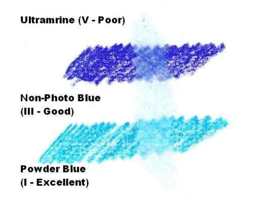 Do Fading Colors Still Fade Under Non-Fading Colors - Blue Color Test 1