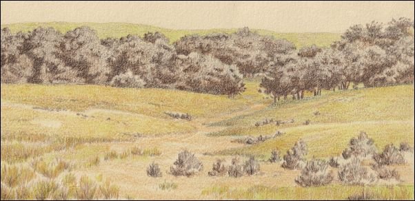 Umber Under Painting - Cloudy Landscape 11