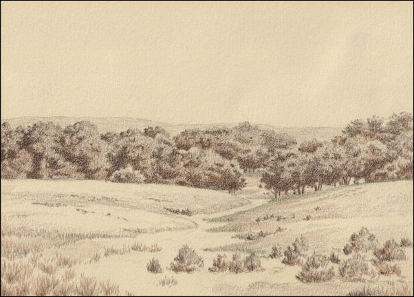 Umber Under Painting - Cloudy Landscape 7